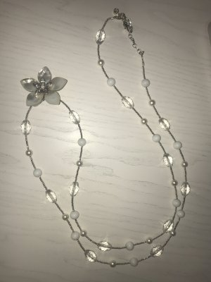 Dyrberg/Kern Pearl Necklace light grey-white