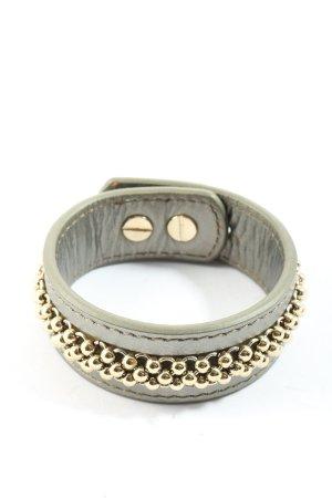 Dyrberg/Kern Bracelet en cuir gris clair style décontracté