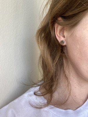 Dyrberg/Kern Ear stud grey brown-brown