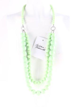 Dyrberg/Kern Perlenkette hellgrün extravaganter Stil
