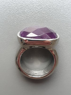 Dyrberg/Kern Anillo de cuentas color plata-violeta oscuro metal