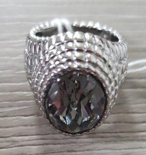 Dyrberg/Kern Silver Ring silver-colored-grey