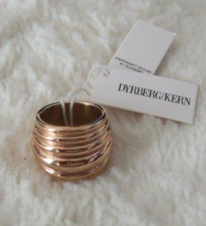 Dyrberg/Kern Anillo de cuentas color rosa dorado