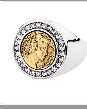 Dyrberg/Kern Anello d'argento oro-argento