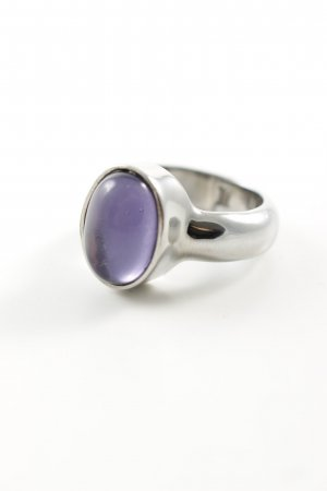 Dyrberg/Kern Anello d'argento argento-lilla stile casual