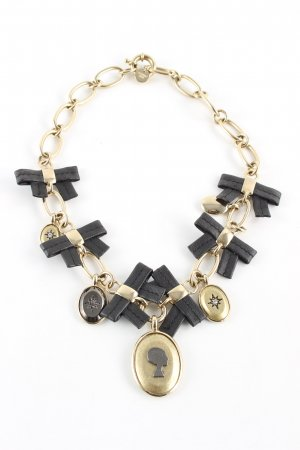 Dyrberg/Kern Collier incrusté de pierres doré-noir style d'affaires