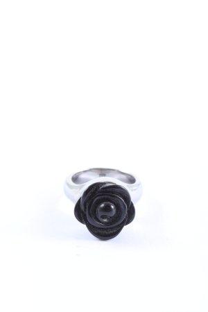 Dyrberg/Kern Statementring schwarz-silberfarben Casual-Look