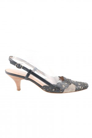 Dyva Slingback Pumps black-brown casual look