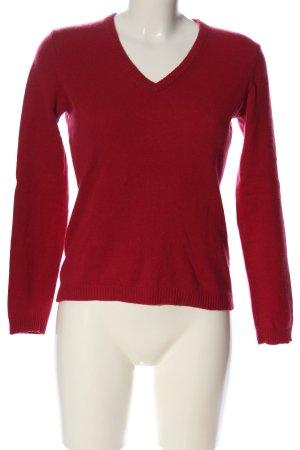 E.B. Company Cashmere Jumper red casual look