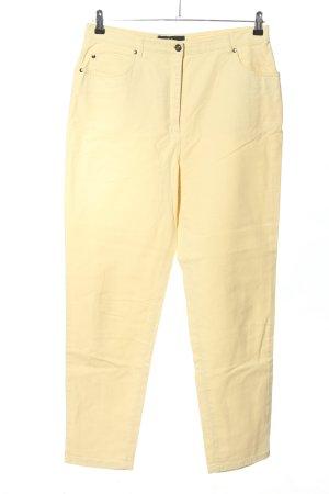 E.B. Company Pantalon cinq poches jaune primevère style décontracté