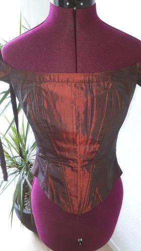 E.B. Company Haut type corsage bordeau