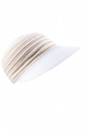 E.B. Company Visor Cap white-nude striped pattern casual look