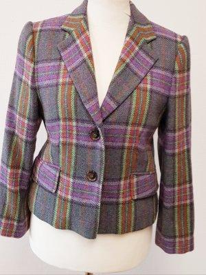 E.B. Company Blazer de lana gris claro-violeta grisáceo