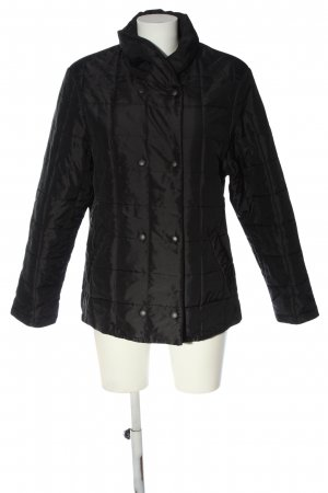 E.B. Company Quilted Jacket black quilting pattern casual look