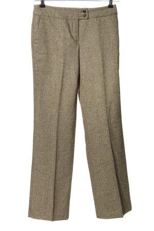 E.B. Company Pantalón de lana marrón-blanco estilo «business»