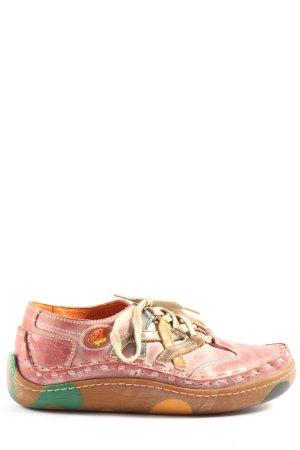 E,Ect Schnürsneaker pink-braun abstraktes Muster Casual-Look