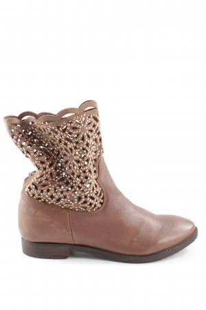 Ankle Boots braun-wollweiß Casual-Look