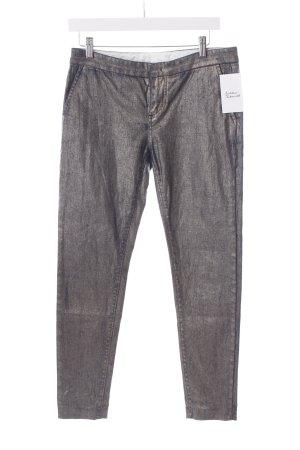 E-go Stretch Jeans stahlblau-goldfarben Casual-Look