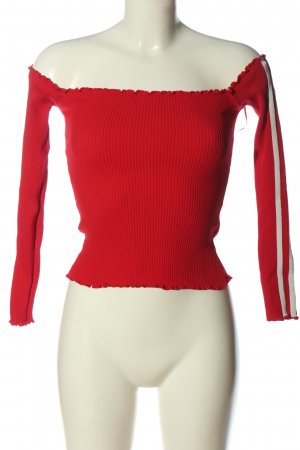 E.L.K Cropped Shirt red casual look