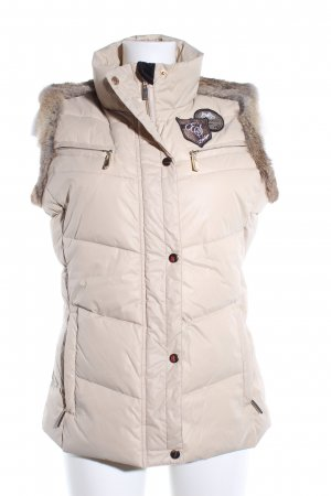 Quilted Gilet natural white quilting pattern casual look
