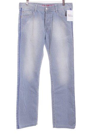 Each & Other Boyfriend Jeans white-blue striped pattern