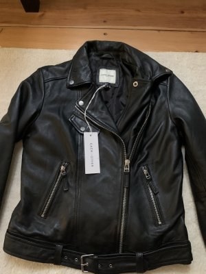 Each & Other Leather Jacket black leather