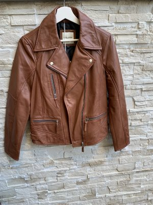 Each & Other Leather Jacket cognac-coloured
