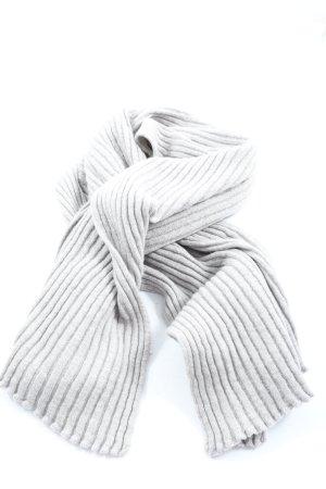 Eagle Products Bufanda de punto gris claro estampado a rayas elegante
