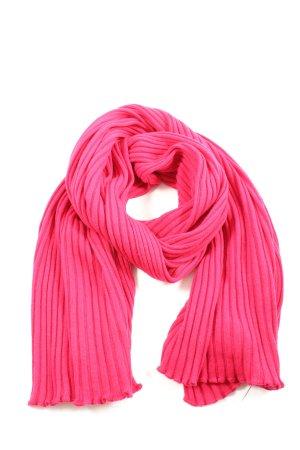 Eagle Products Écharpe en laine rose motif rayé style décontracté