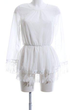 Ealey Fushi Transparenz-Bluse weiß Casual-Look