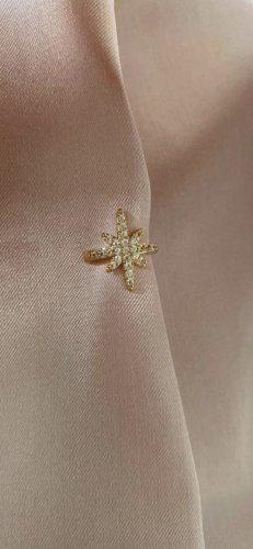 apm Monaco Boucle d'oreille incrustée de pierres doré