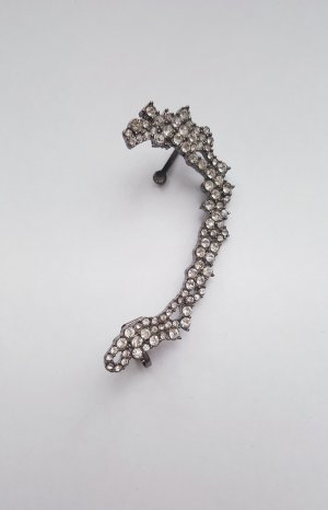 Earclip silver-colored-light grey
