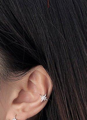 925er Silber Clip d'oreille argenté