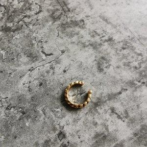 Earcuff gold  Struktur Muster NEU