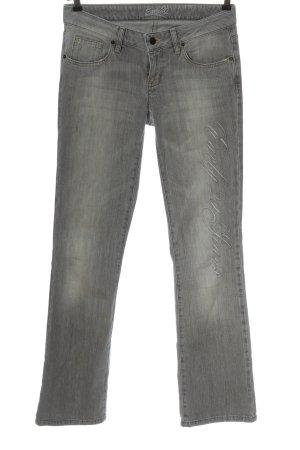 Early 20 Pantalon pattes d'éléphant gris clair lettrage brodé