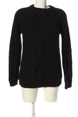 Earnest Sewn Jersey trenzado negro punto trenzado look casual