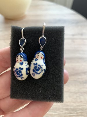Sokolov Zilveren oorbellen blauw