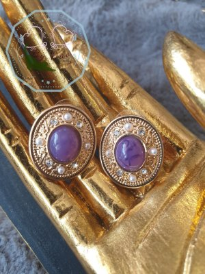 Gold Earring gold-colored-lilac