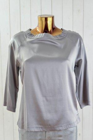 Blusa in seta grigio