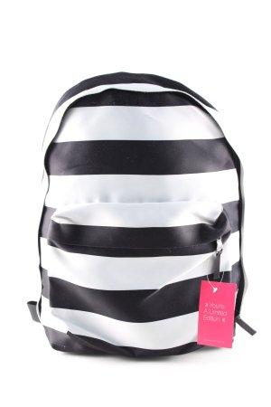Eastpak Schulrucksack weiß-schwarz Streifenmuster Casual-Look