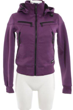 Eastpak Hoody dark violet casual look