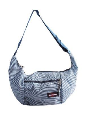 Eastpak Stofftasche blau-weiß Allover-Druck Casual-Look