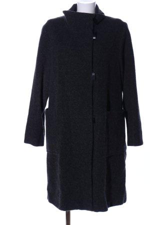Easy Comfort Płaszcz polarowy czarny Melanżowy W stylu biznesowym