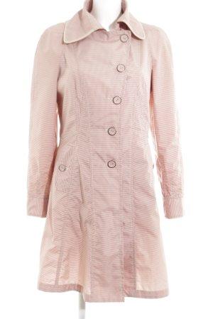 Easy Comfort Übergangsmantel pink-weiß Karomuster Casual-Look