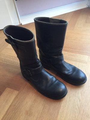 Moma Biker Boots black leather