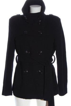 EASYCOMFORT Manteau d'hiver noir style d'affaires
