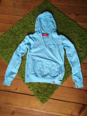 edc Sweter z kapturem baby blue