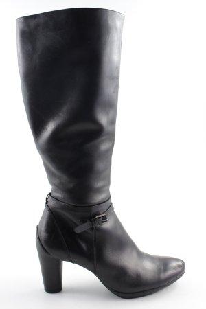 Ecco Absatz Stiefel schwarz Casual-Look