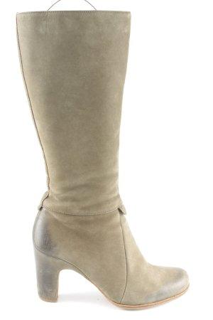 Ecco Absatz Stiefel khaki Business-Look