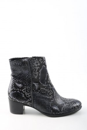 Ecco Ankle Boots schwarz-hellgrau Animalmuster Casual-Look
